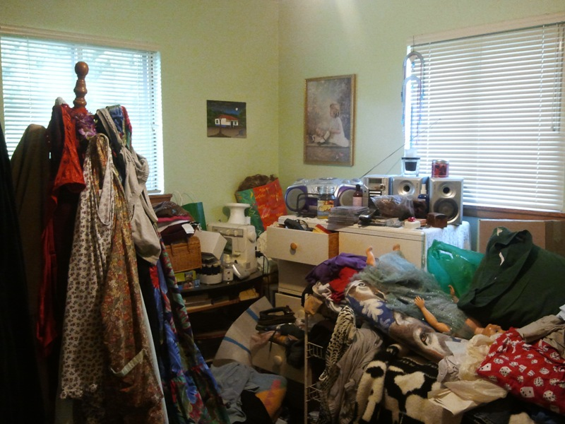 cluttered spare room with lots of 'spares'