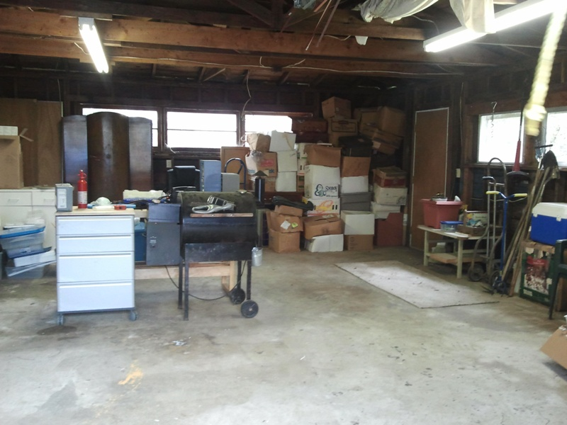 Several truckloads later, garage after the cleanout
